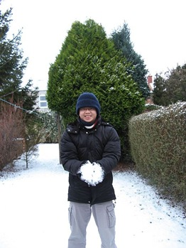 me with snow in back yard