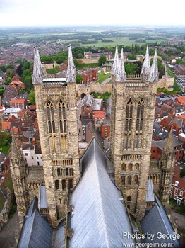 lincoln cathedral from the top