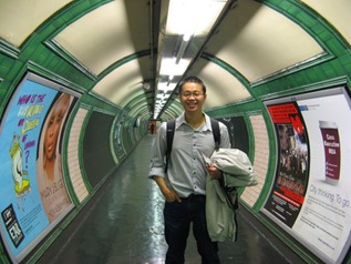 in the subway to tube