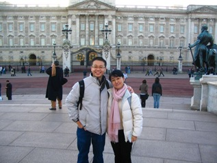 with toshiko in buckingham palace